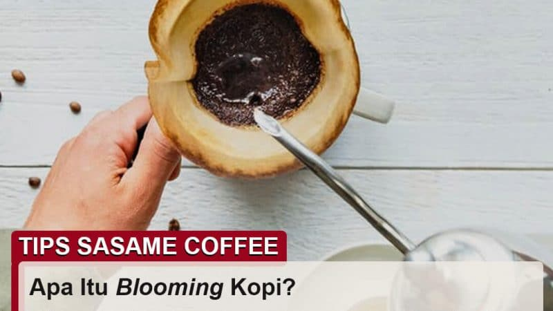 tips sasame coffee - blooming kopi adalah