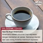 tips sasame coffee - kopi americano adalah