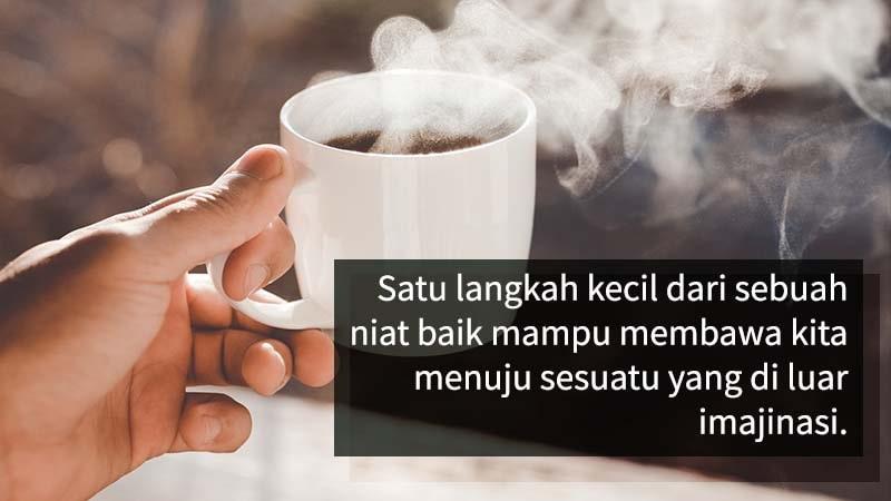 kata bijak filosofi kopi - langkah baik