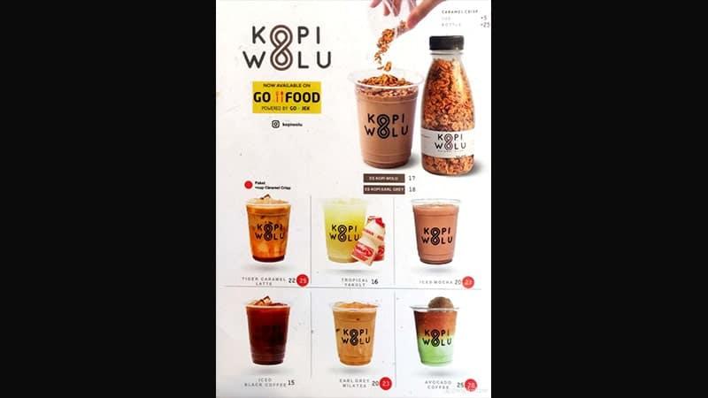 menu franchise kopi wolu