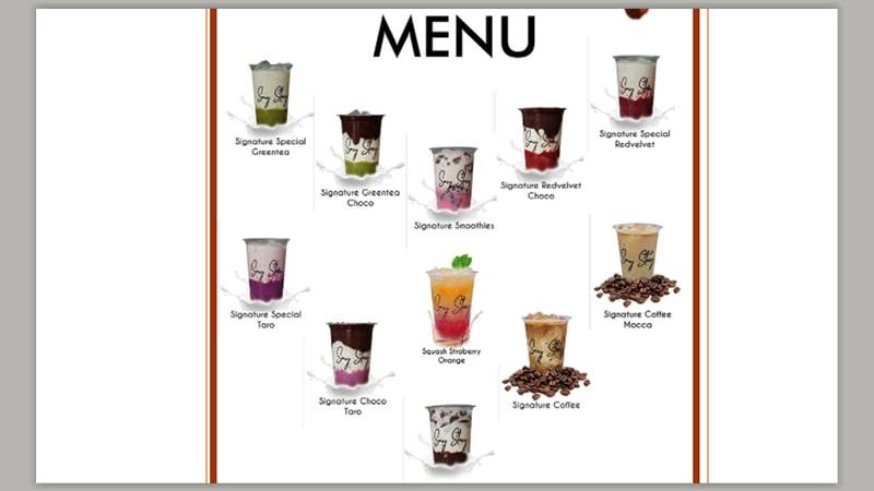 menu say story