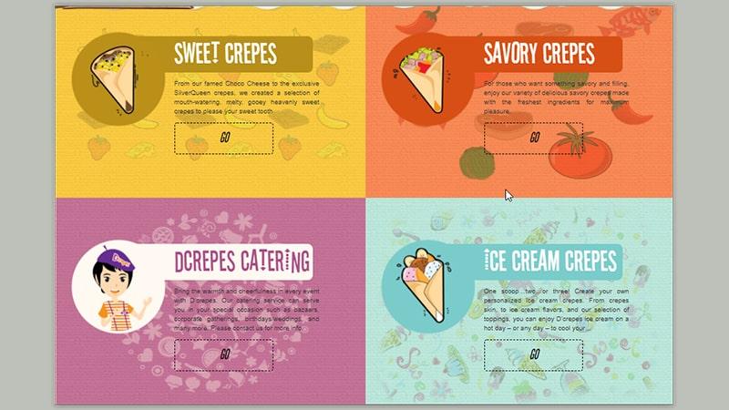 menu d crepes